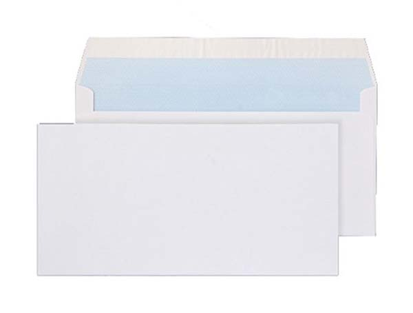 DL Plain White Business Envelopes