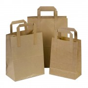 7x10.5x8.5 Tape Handle Paper Carrier Bags