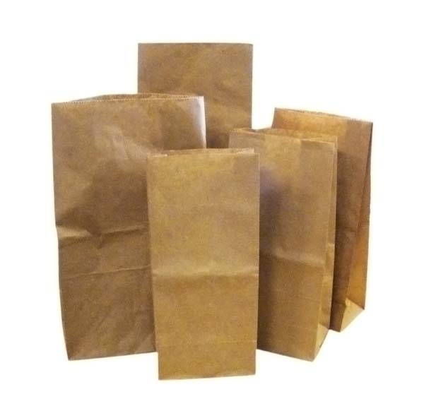 1 LB Block Bottom Paper Bags