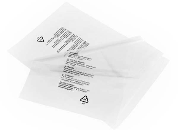 Polythene Bags Printed Warning Notice