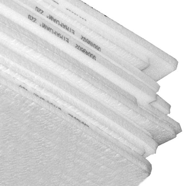 White Ethafoam Sheets 600mm x 2750mm x 25mm
