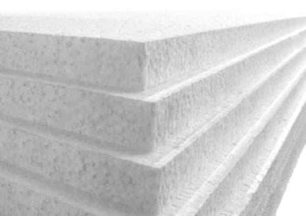 1200mm x 2400mm x 25mm White Polystyrene Sheets