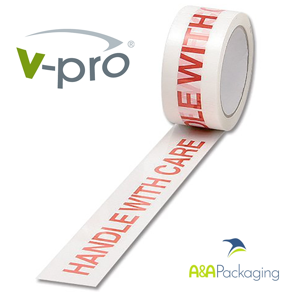 Tape Printed Handle With Care Vinyl 48mm x 66mtr