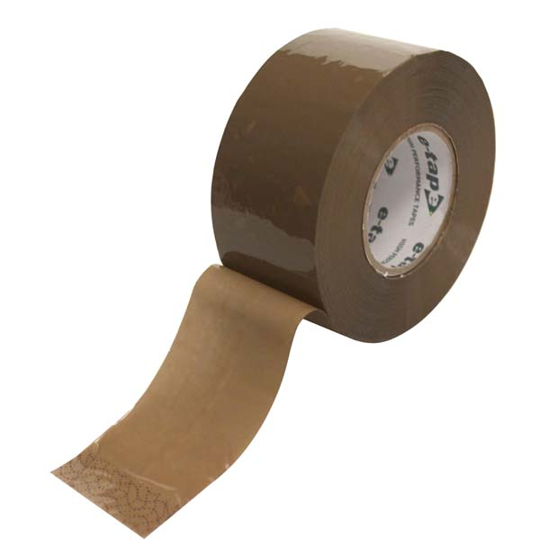 Brown E-Tape PP Hot Melt 48mm x 150mtr