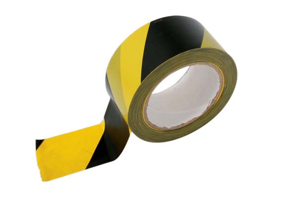 PVC Hazard Lane Marking Tape Black-Yellow