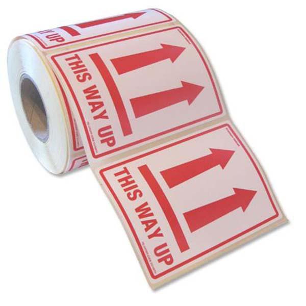 Printed Fragile Paper Warning Labels