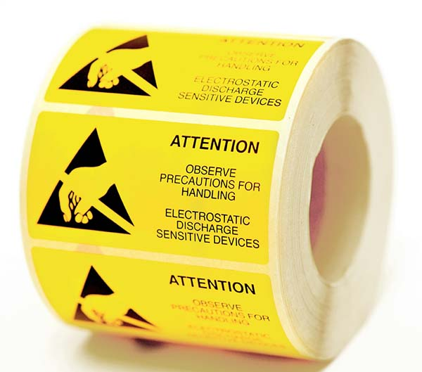 Electrostatic Printed Warning Labels