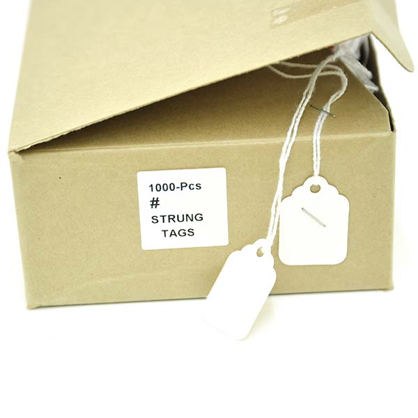 E29 White Jewellery Tags