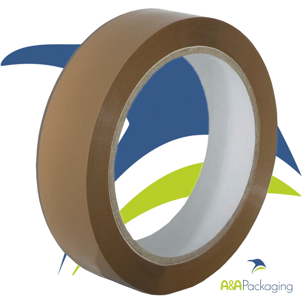Buff Vinyl Solvent Adhesive Tape 25mm x 66mtr