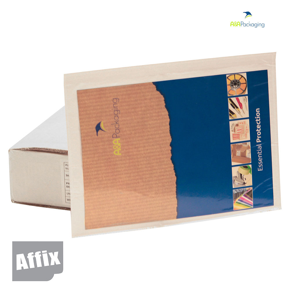A4 Plain Self-Adhesive Envelope Wallets self-adhesive polythene pouch printed with 'Documents Enclosed' for the documents you need to be noticed.