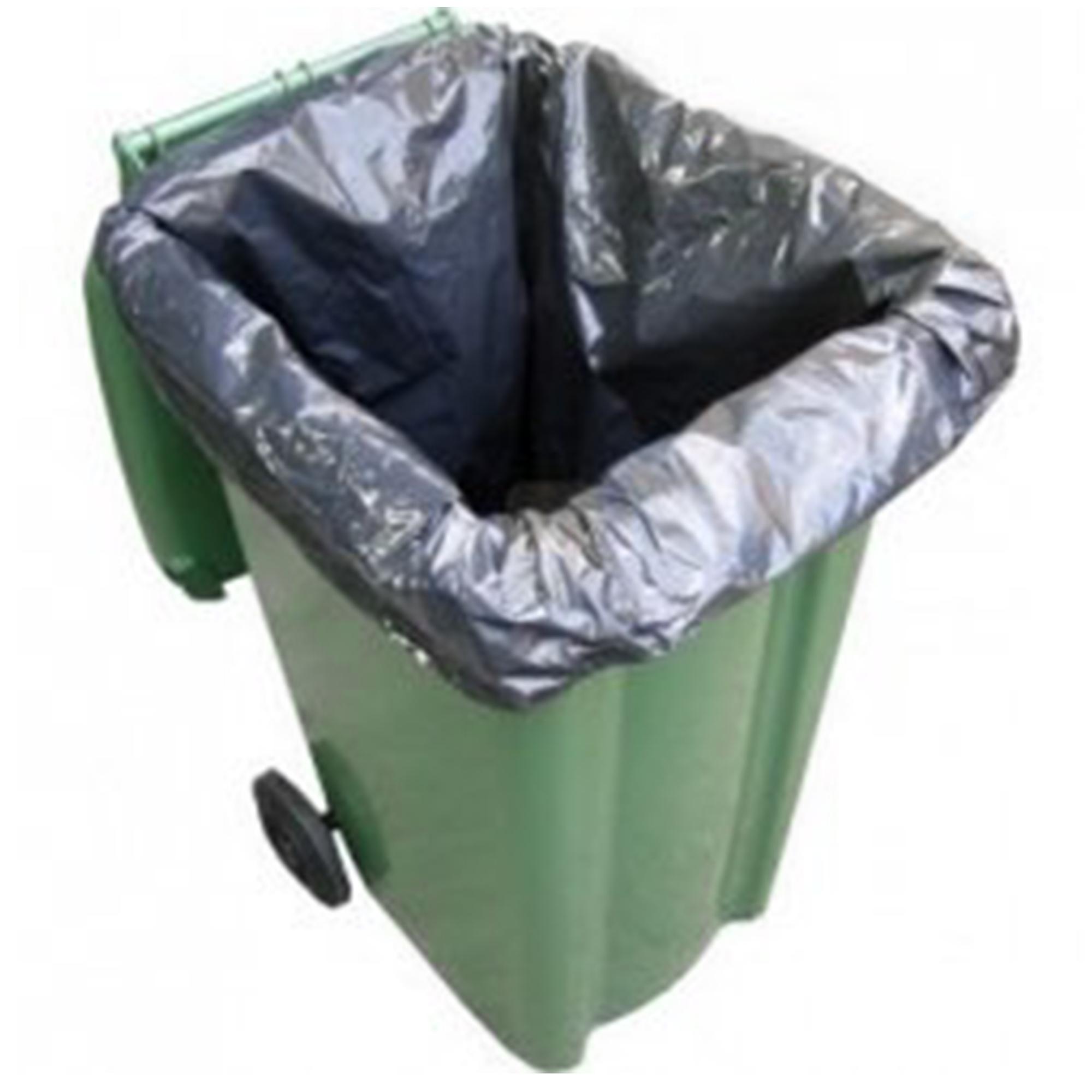 Black Wheelie Bin Liner Waste Sacks