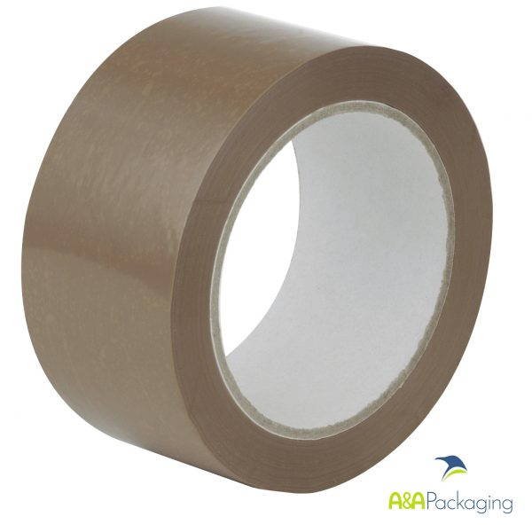 Brown PP Solvent Packing Tape 48mm x 66mtr
