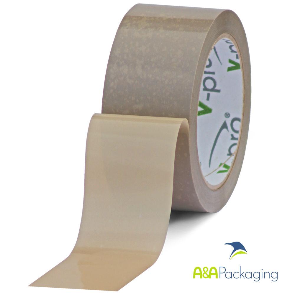 Buff Vinyl Solvent Adhesive Tape 75mm x 66mtr