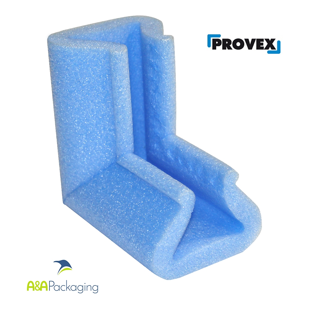 U35 L Profile Foam Corners Protection Blue