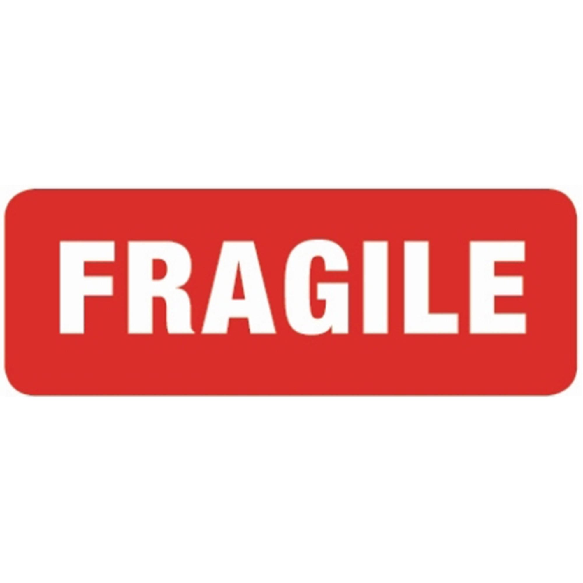 Printed Fragile Warning Labels Paper