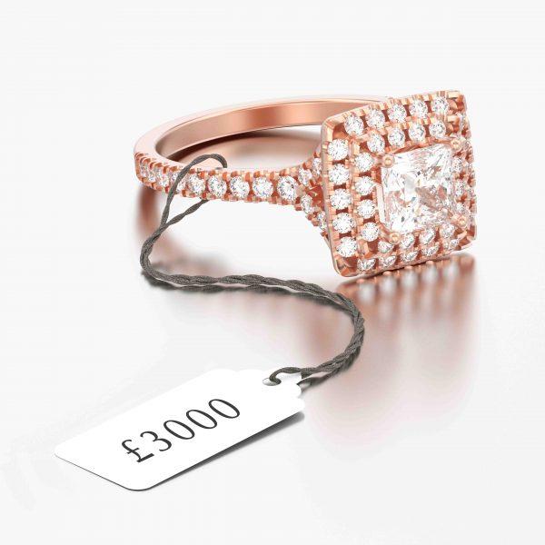 E001 White Jewellery Tags