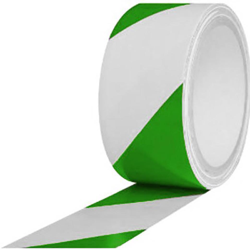 PVC Hazard Lane Marking Tape Green-White