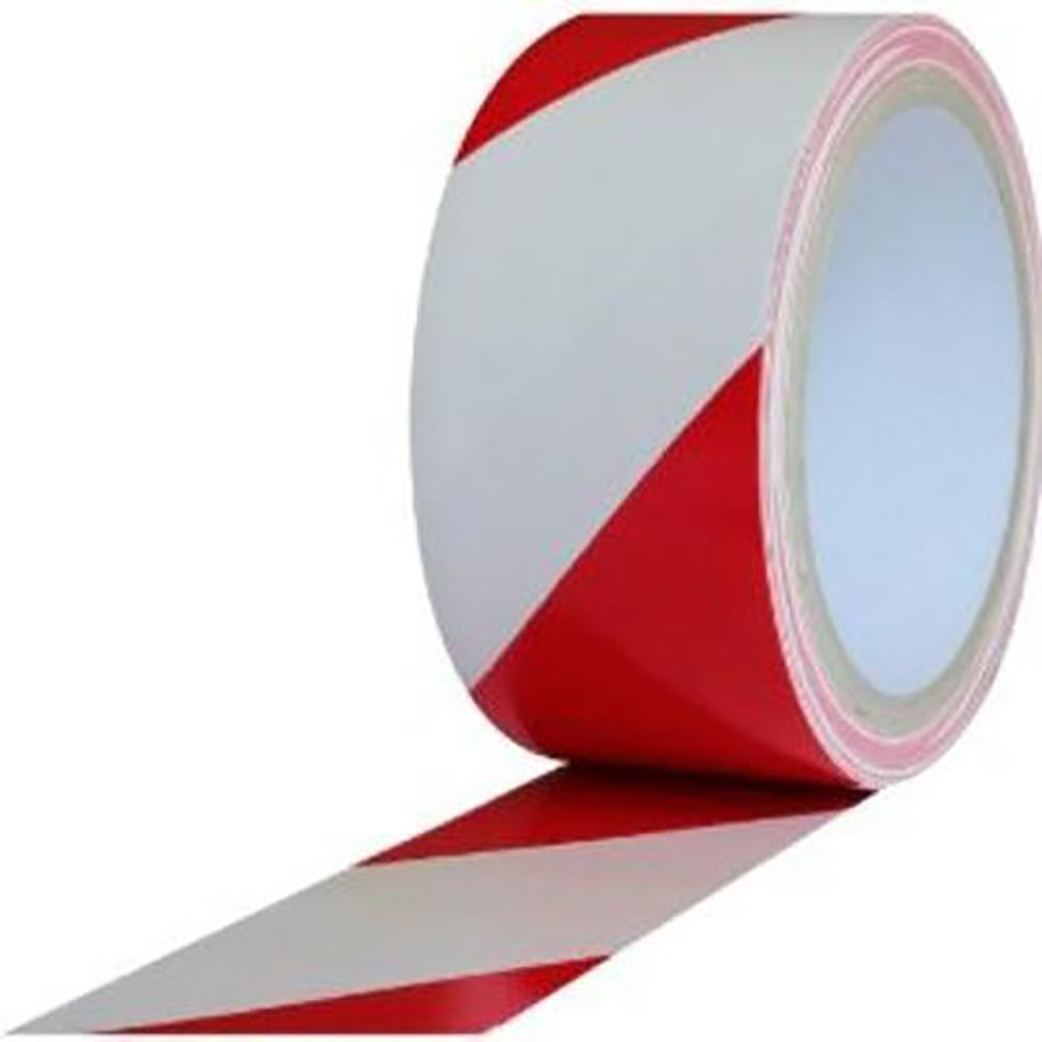 PVC Hazard Lane Marking Tape Red-White