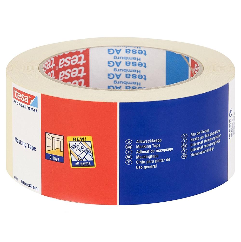 Tesa 4323 50mm x 50mtr Light Duty Masking Tape
