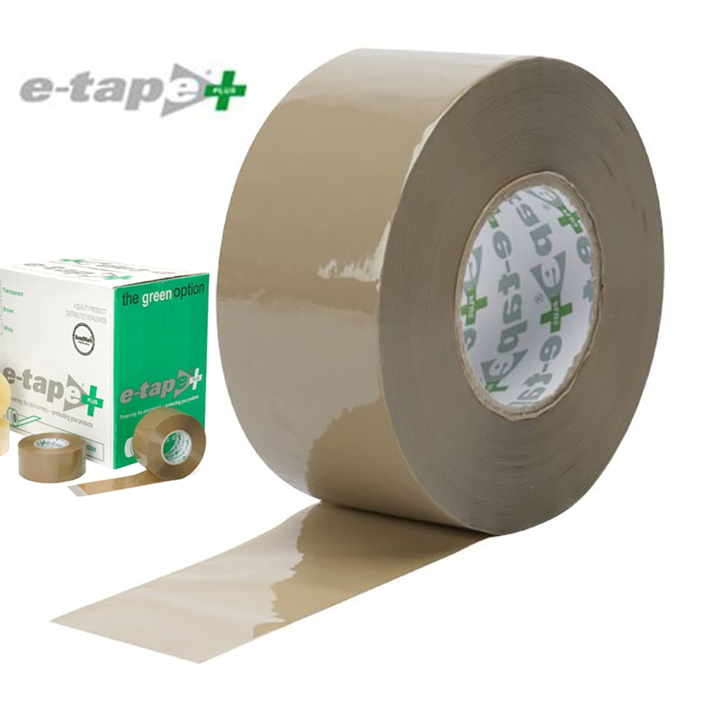 Brown E-Tape PP Economy Plus Acrylic 48mm x 150mtr