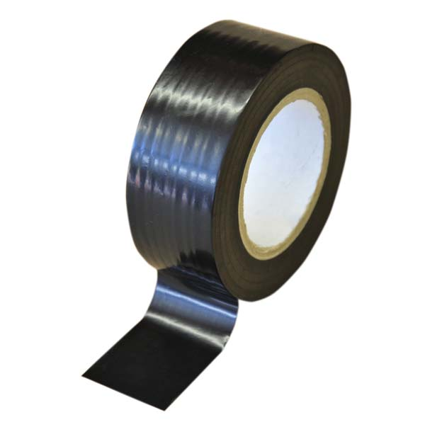 75mm Low Tack Protection Polythene Tape Black/White
