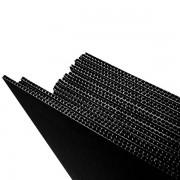 Black Twin Wall Plastic Corrugated Sheeting