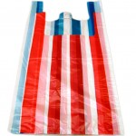 12x18x24 Striped Vest Style Carrier Bags