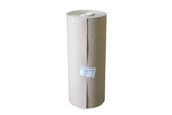 750mm Imitation Kraft Paper Roll Parcel Wrapping