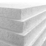 1200mm x 2400mm x 25mm White Polystyrene Sheets