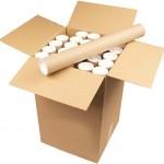 Cardboard Postal Tubes Brown 4 x 25