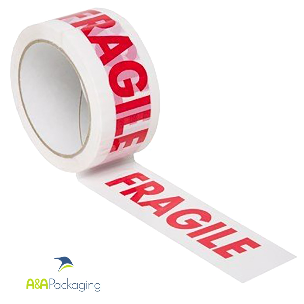 6 ROLLS FRAGILE PRINTED MAGIC TAPE PACKAGING TAPE PARCEL SEALING 48MM X 50M