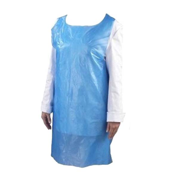 Blue Disposable Polythene Aprons