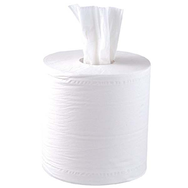 Centre Feed Wipe Roll White 195mm x 150mtr