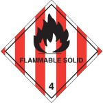 Printed Labels Warning Flammable Solids