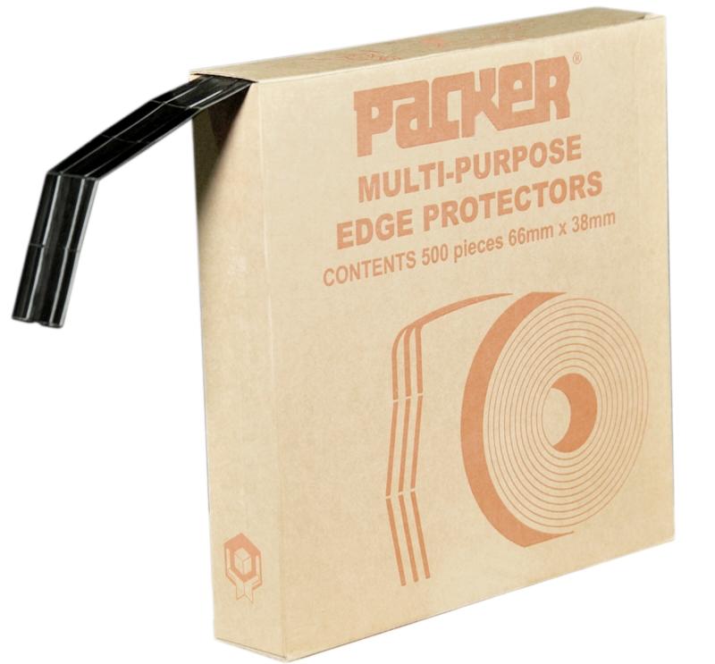 Plastic Edge Protector Black 66mm x 38mm