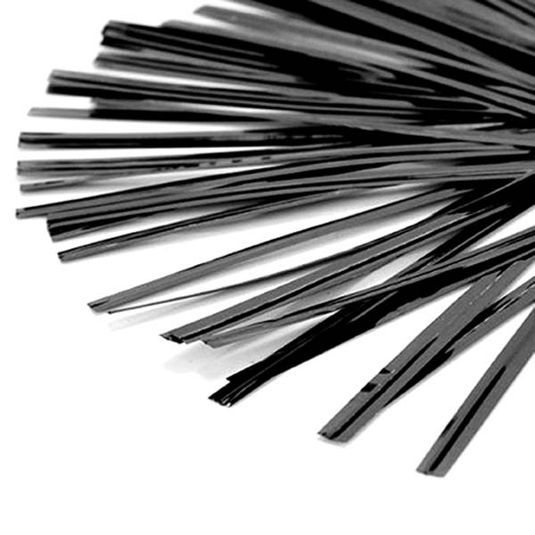 Twist Ties Plastic Coated Black