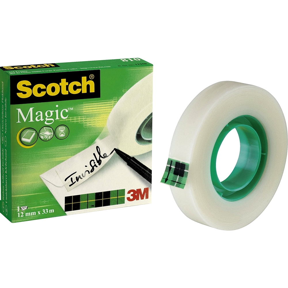 Invisible Stationary Core Tape Clear 19mm x 33mtr