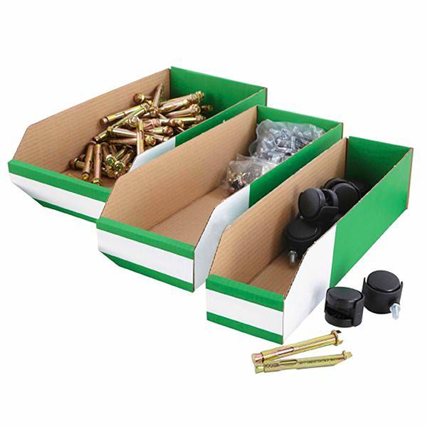 Flat Pack Cardboard Parts Bins Ref B4020