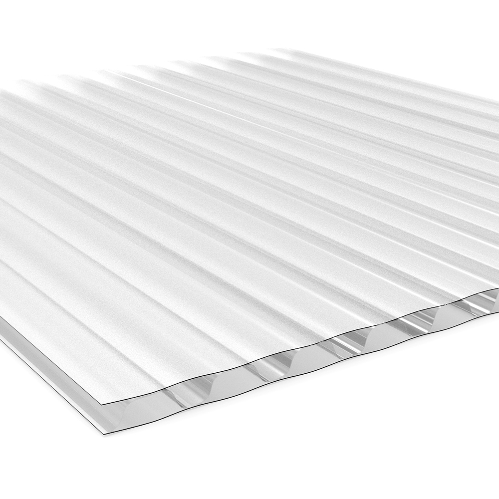 White Twin Wall Plastic Corrugated Sheeting