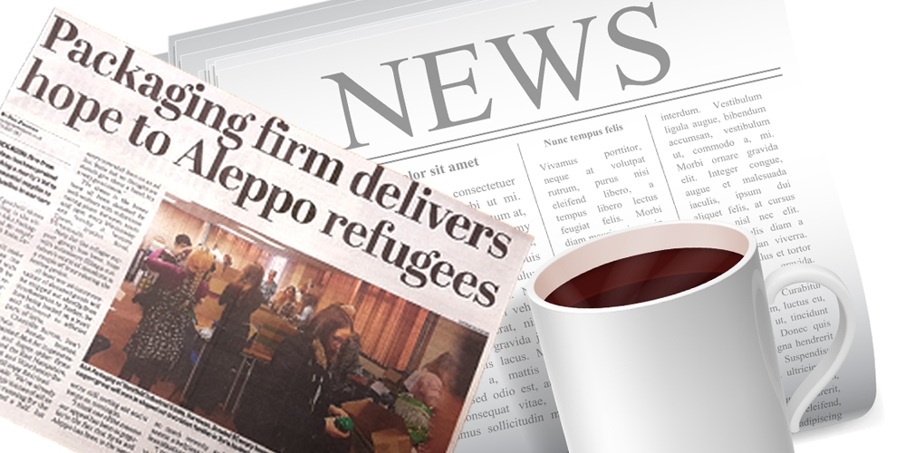 Packaging firm delivers hope to refugees