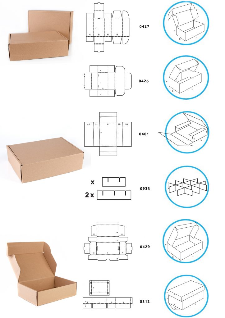 Guide to common carton styles