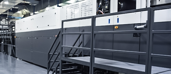 The first digital post print corrugated press in Europe