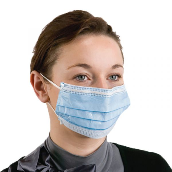 Face Masks Blue 3 Ply Surgical Type CE Certified